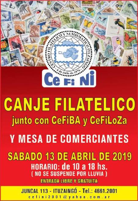Canje Filatélico - CEFINI