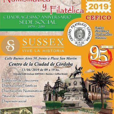 Jornada Filatélica y Numismática Córdoba